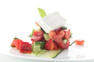 Griechischer Salat ist gesund und lecker